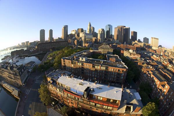 Aerial photo of Boston University