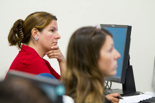 Images of BU students learning about paralegal stuff